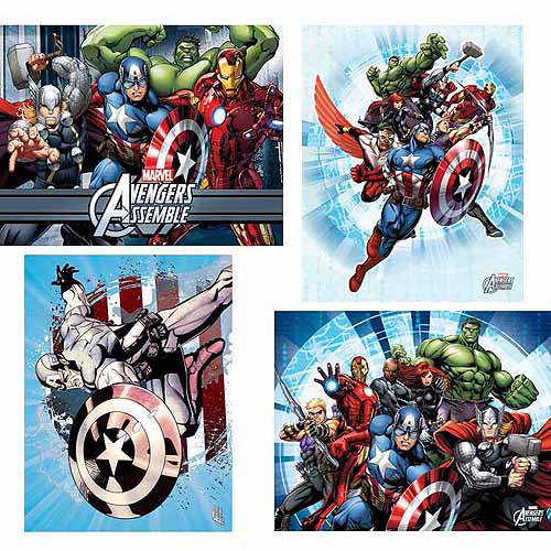 Marvel Wall Art marvel avengers wall art, set of 4 - walmart