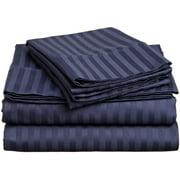 1800 Series Premium Deep Pocket Bed Sheet Set by Elaine Karen Microfiber Bedding -Includes Flat Sheet-Fitted Sheet- Pillowcases, Size: King, Queen, Full, Twin - FULL NAVY
