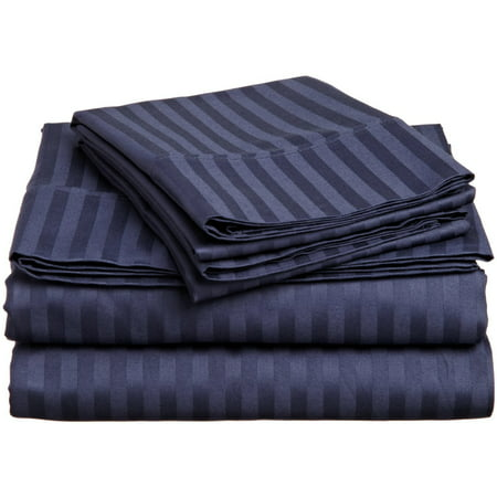 Ralph Lauren Queen Flat Sheet - 1800 Series Premium Deep Pocket Bed Sheet Set by Elaine Karen Microfiber Bedding -Includes Flat Sheet-Fitted Sheet- Pillowcases, Size: King, Queen, Full, Twin - FULL NAVY
