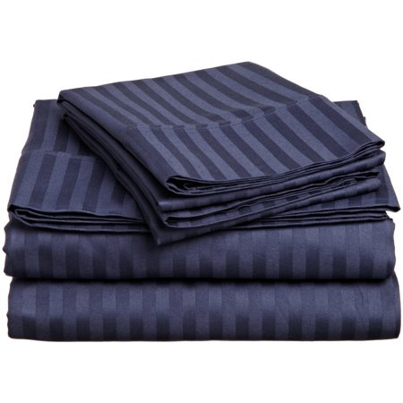 - 1800 Series Premium Deep Pocket Bed Sheet Set by Elaine Karen Microfiber Bedding -Includes Flat Sheet-Fitted Sheet- Pillowcases, Size: King, Queen, Full, Twin - FULL NAVY