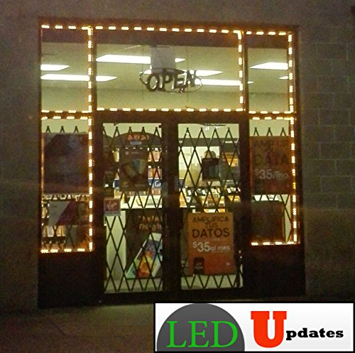 20ft Storefront Windows orange LED Light with UL Listed 12v 3A AC adapter
