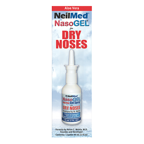 Neilmed Nasogel Drip Free Gel Spray For Dry Noses - 30 Ml, 2 Pack