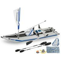 Sea Eagle 435ps PaddleSki Inflatable Catamaran Kayak QuikRow Package