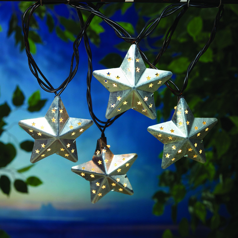Better Homes & Gardens 20(10x2) UL Metal Star String Lights