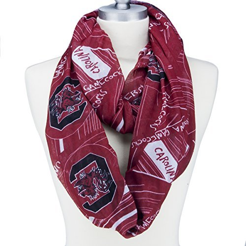South Carolina Infinity Scarf with Geometric Designs, Logos and Colors