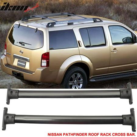 Fit For 05-12 Nissan Pathfinder Cross Bar Roof Rack Black Cap - Nissan Quest Rack