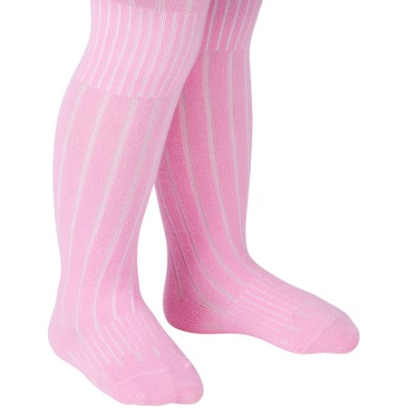 Peds Baby Toddler Girls Growing Tights, 2 Pairs, Ages 6 Months - 5 Years