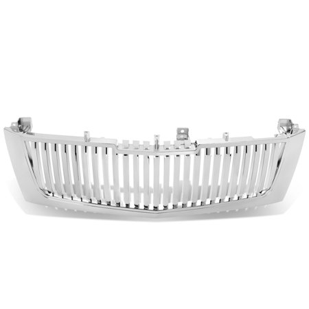 For 2002 to 2006 Cadillac Escalade ESV EXT ABS Plastic Vertical Style Front Grille (Chrome) - 2nd Gen GMT800 03 04 - Cadillac Escalade Chrome Grille