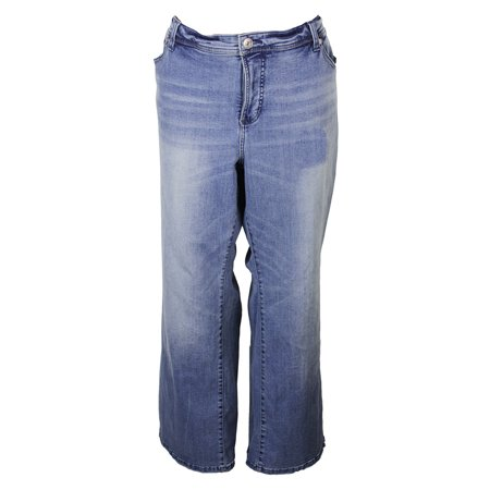 cea1c755135 Inc International Concepts Plus Size Blue Slim-Fit Boot Leg Jeans 24W -  Walmart.com
