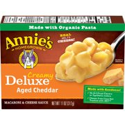 (2 Pack) Annie's macaroni and cheese, shells & real aged cheddar sauce mac and cheese, 11 oz box