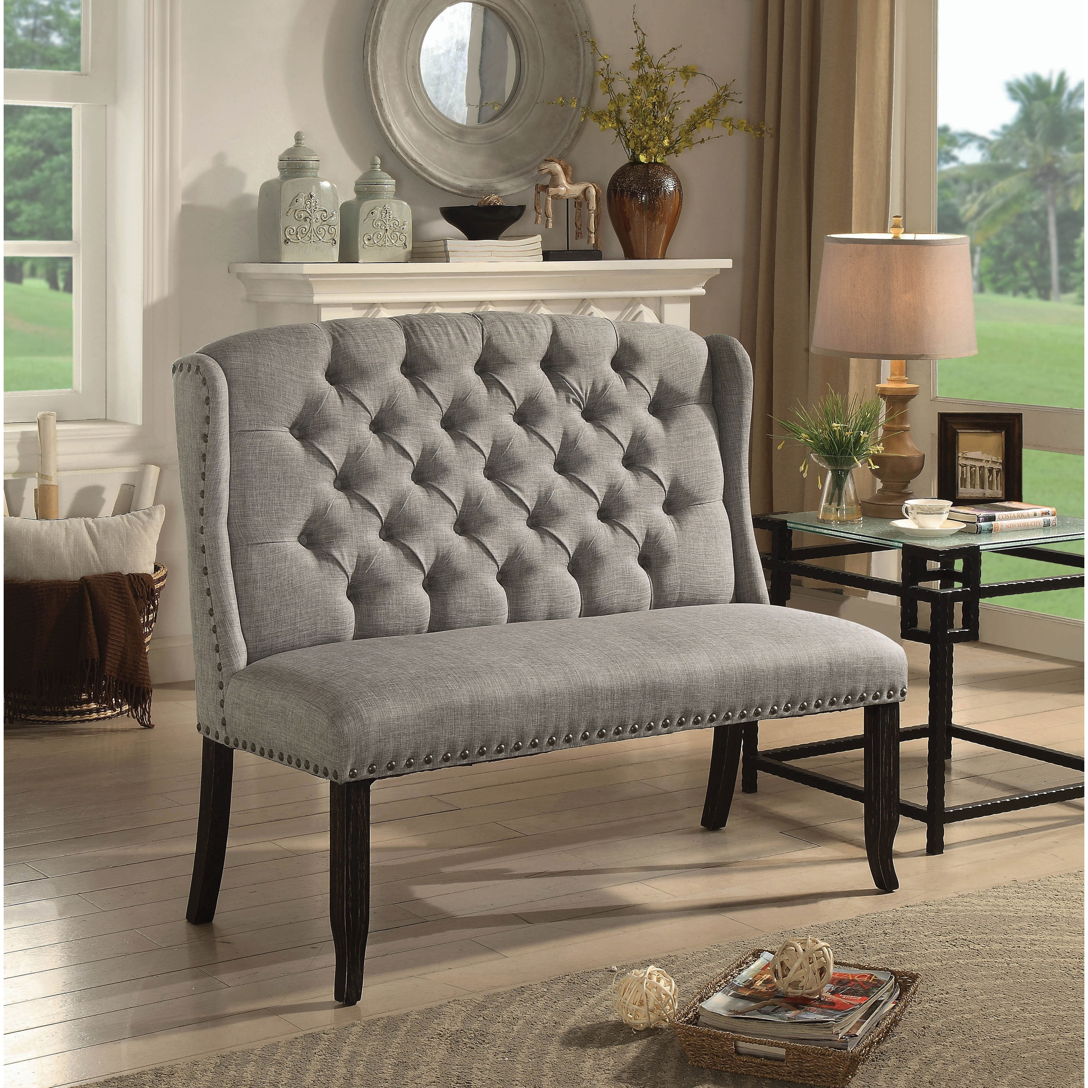 Furniture Of America Telara Foam Contemporary Tufted ...
