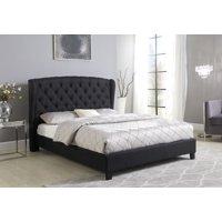 Best Master Furniture Yvette Black Tufted Upholstered Platform Bed, Queen