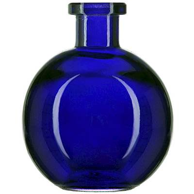 COBALT BLUE MINI 3.4 Ounce Ball Glass Vase - Courtneys Candles