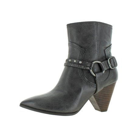 Lucky Brand Womens Majoko Leather Western Harness Boots Gothic Leather Boots