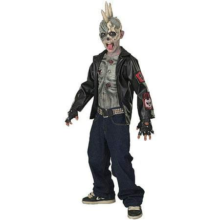 Punk Zombie Child Halloween Costume - Halloween Zombie Costumes Cheap