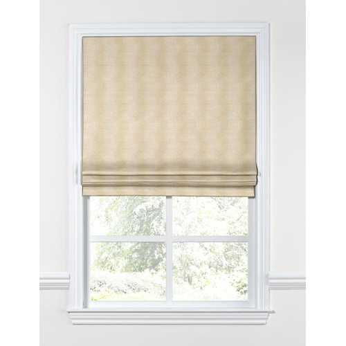 Loom Decor Metallic Linen Flat Roman Shades