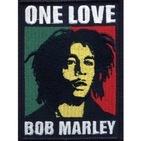 BOB MARLEY One Love Glue On Patch Rasta NEW