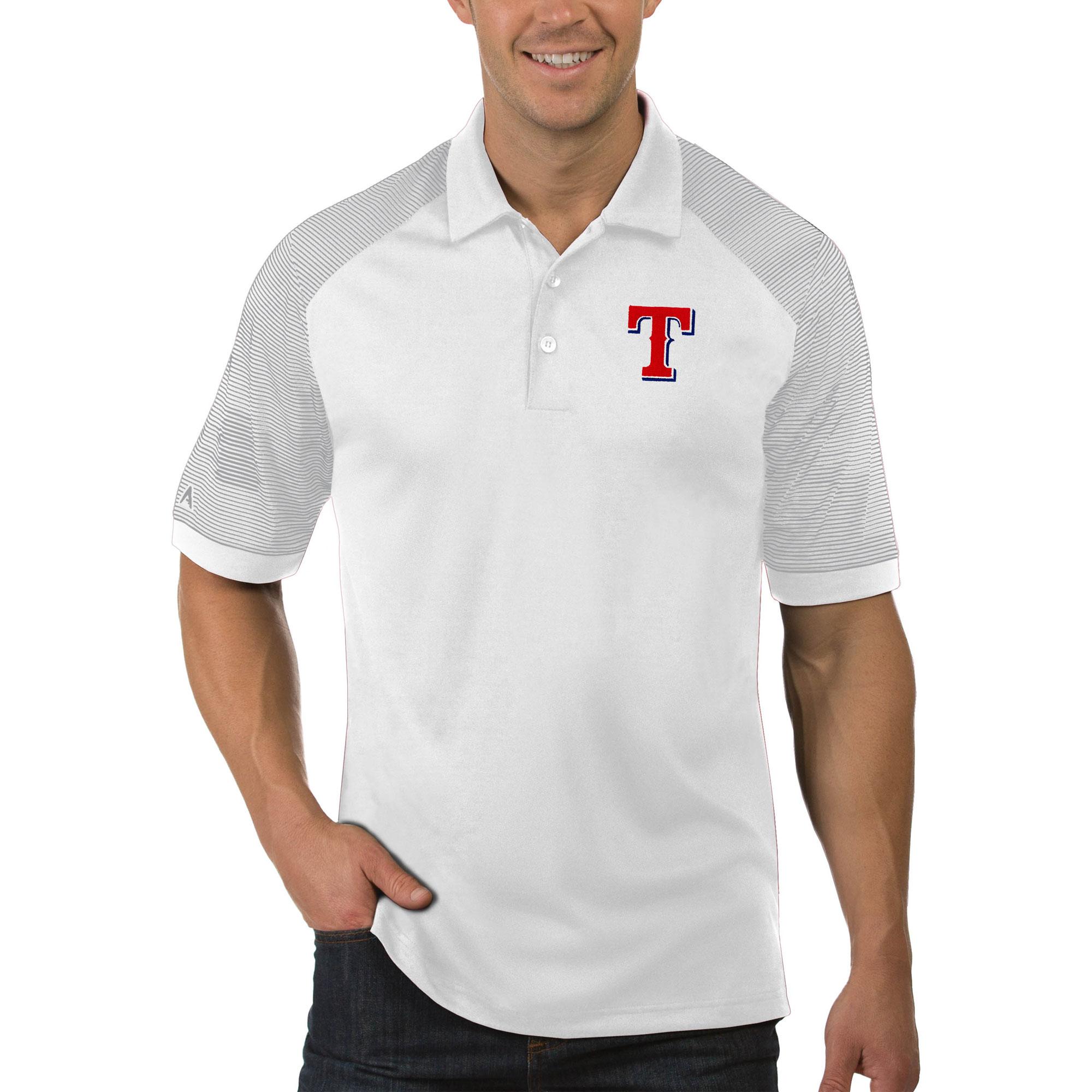 Texas Rangers Antigua Engage Big & Tall Polo - White
