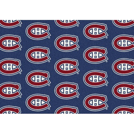 Milliken Nhl Repeat Area Rugs - Contemporary 01612 Nhl Hockey Team Sports Novelty Rug (Milliken Modern Times Element)