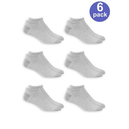 Silver Mens Smock (Men's No Show Socks 6 Pack )