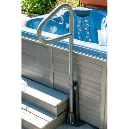 Safety Tip - Hot Tub Products SUB-69-BK Spa Ease 69 inch Safety Rail with Under Mount Bracket and Additional Slip Tee - Black
