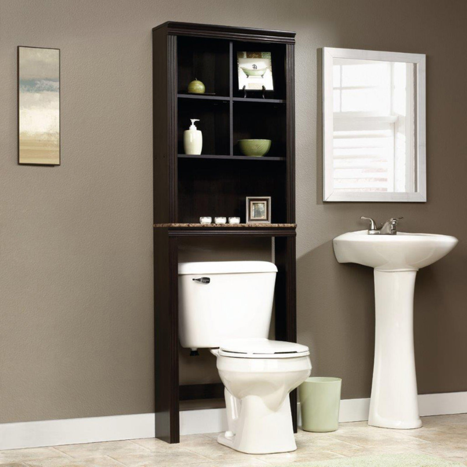 Sauder Bath Peppercorn Collection Space Saver