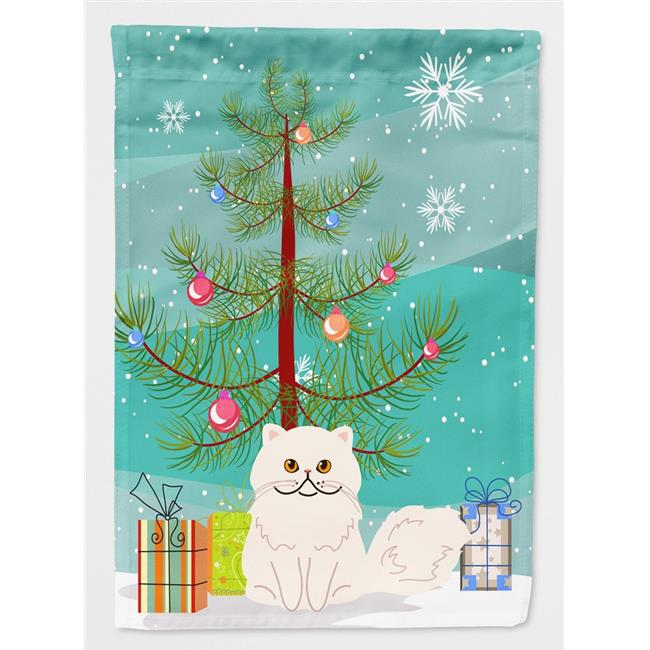 Carolines Treasures BB4425CHF Persian Cat Merry Christmas Tree Flag Canvas House Size - image 1 of 1