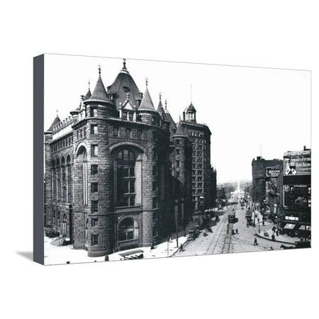 Niagara Street, Buffalo, New York Stretched Canvas Print Wall Art By William Henry Jackson Niagara Street Buffalo
