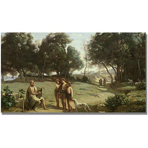 "Trademark Fine Art ""Homer And the Shepard"" Canvas Art by Jean Baptiste Corot"