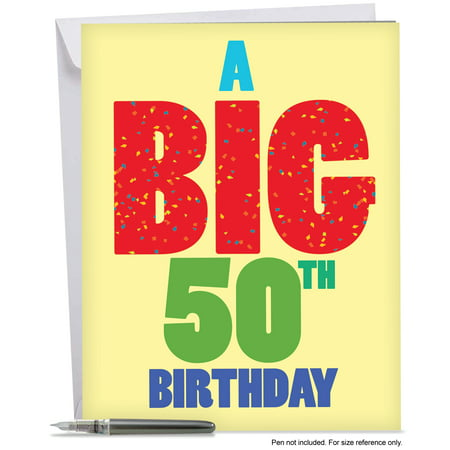 J3940BDG Funny Birthday Greeting Card Big 50 With Envelope By NobleWorks
