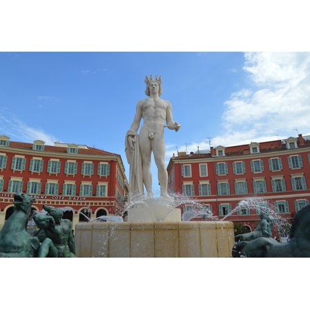 LAMINATED POSTER France Place Massena Town Nice Apollo Statue Poster Print 24 x 36 (Nice Statue)