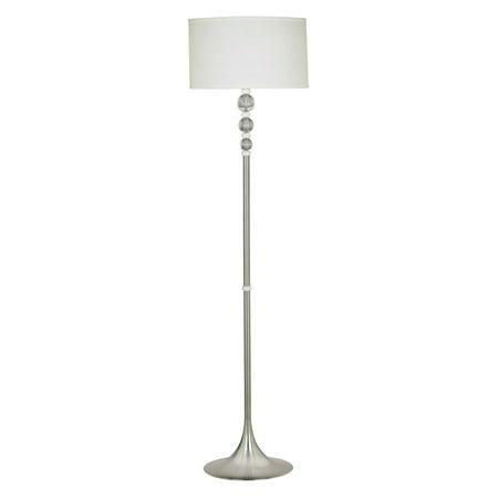 3-way Luella Floor Lamp Brushed Steel/White/Acrylic - Kenroy Home