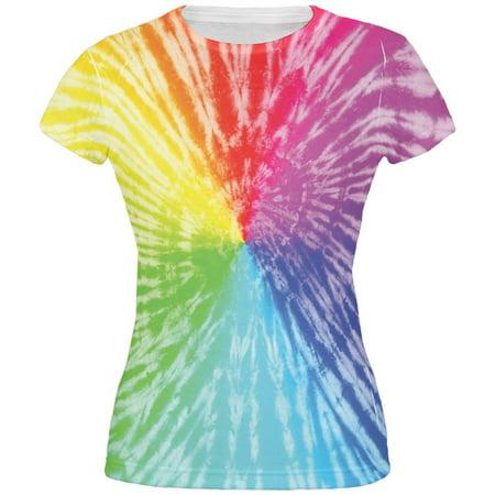 Rainbow Pride LGBT Tie Dye All Over Juniors T-Shirt