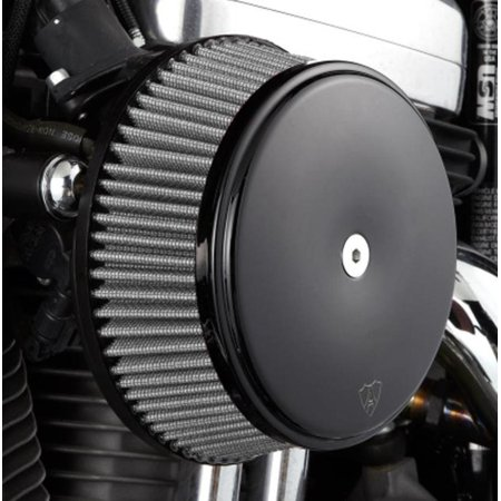 Arlen Ness 50-336 Big Sucker Stage I Air Filter Kit with Cover and Stainless Steel Jacketed Filter - - Stainless Steel Warm Air
