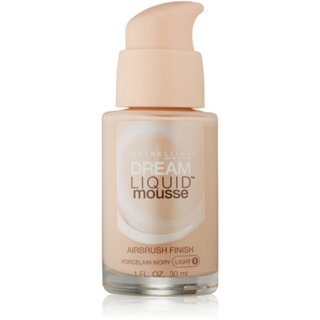 3 Pack - Maybelline Dream Liquid Mousse Airbrush Foundation, Porcelain Ivory, Light [1], 1 (Hi Def Foundation)
