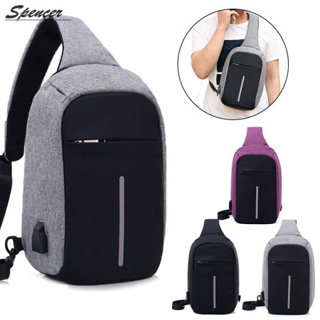Provided Mens Small Sling Bag Usb Charging Chest Pack Travel Sport Anti-theft Shoulder Cross Body Messenger Outdoor Bag Engagement & Wedding
