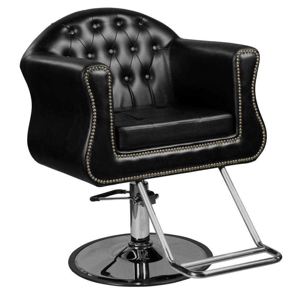 """Avondale """"Young"""" Black Beauty Salon Styling Chair, Round ..."""