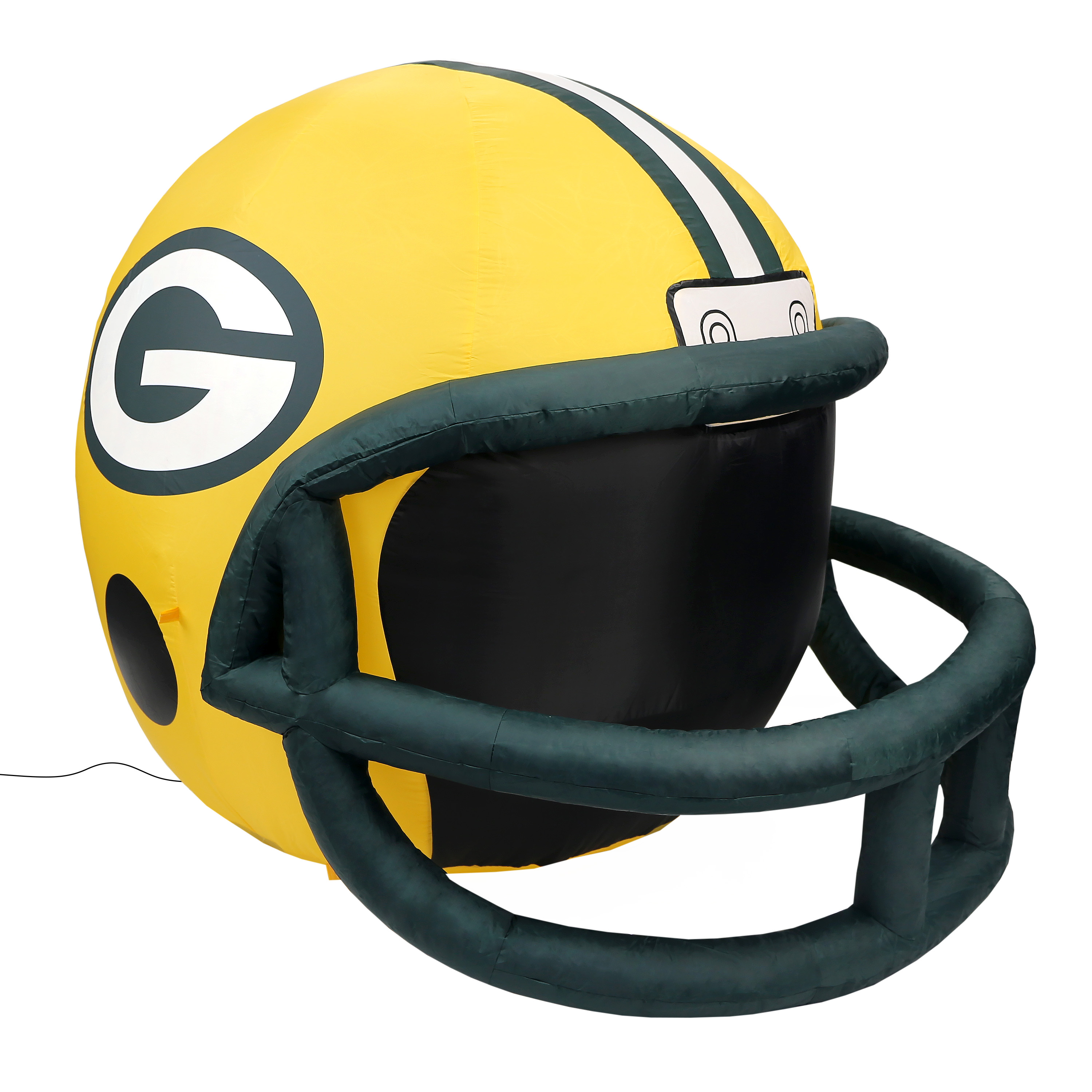 NFL Green Bay Packers Team Inflatable Lawn Helmet, One Size, Yellow