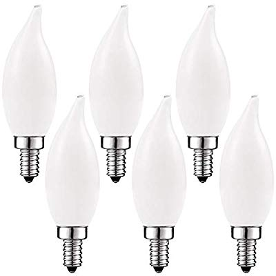 Candle C35 Twisted E14 Frosted 25W Incandescent//T Pack of 10 Luxram