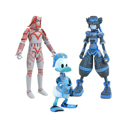 Diamond Select Toys Kingdom Hearts Select Series 3 Sp Sora, Donald & Sark Action Figures