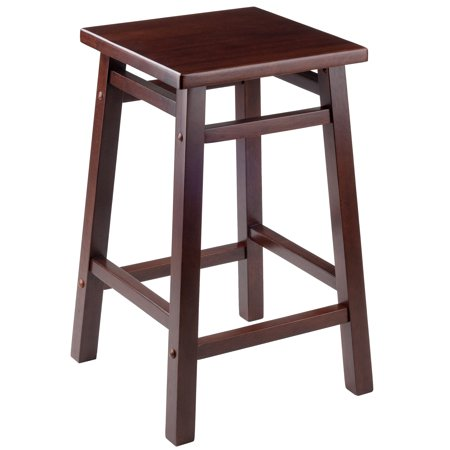 Winsome Wood Carter 24 Quot Square Seat Counter Stool Walnut