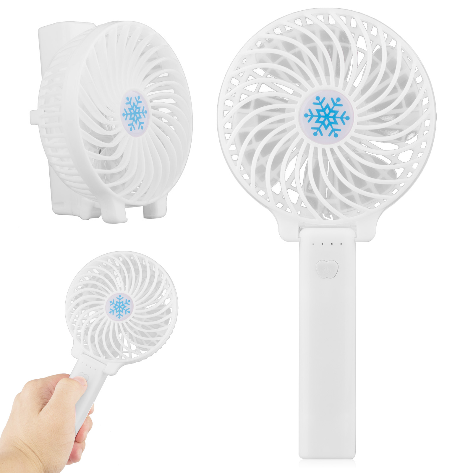 Mini Handheld Fan, with USB Rechargeable Battery, Foldable Personal Portable Desktop Table Cooling... by EEEKit