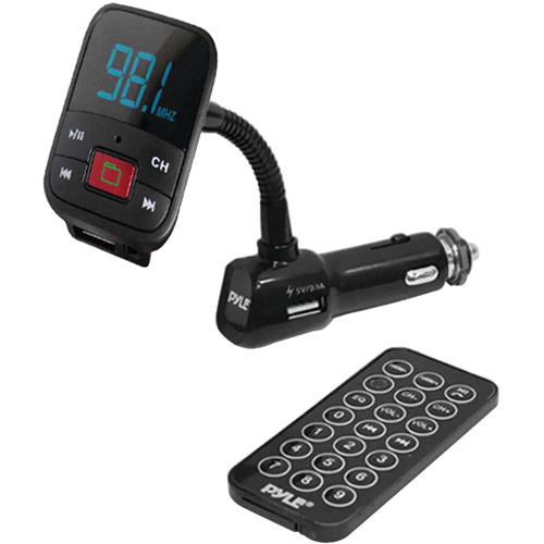 Pyle FM Radio Transmitter with USB/microSD/MP3/WMA Compatibility and Aux Input