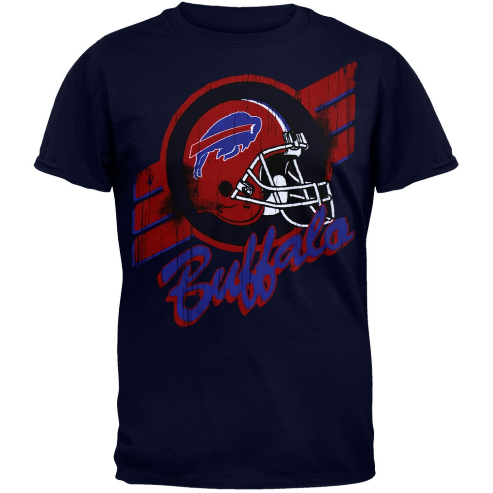 Buffalo Bills - Helmet Crackle Soft T-Shirt
