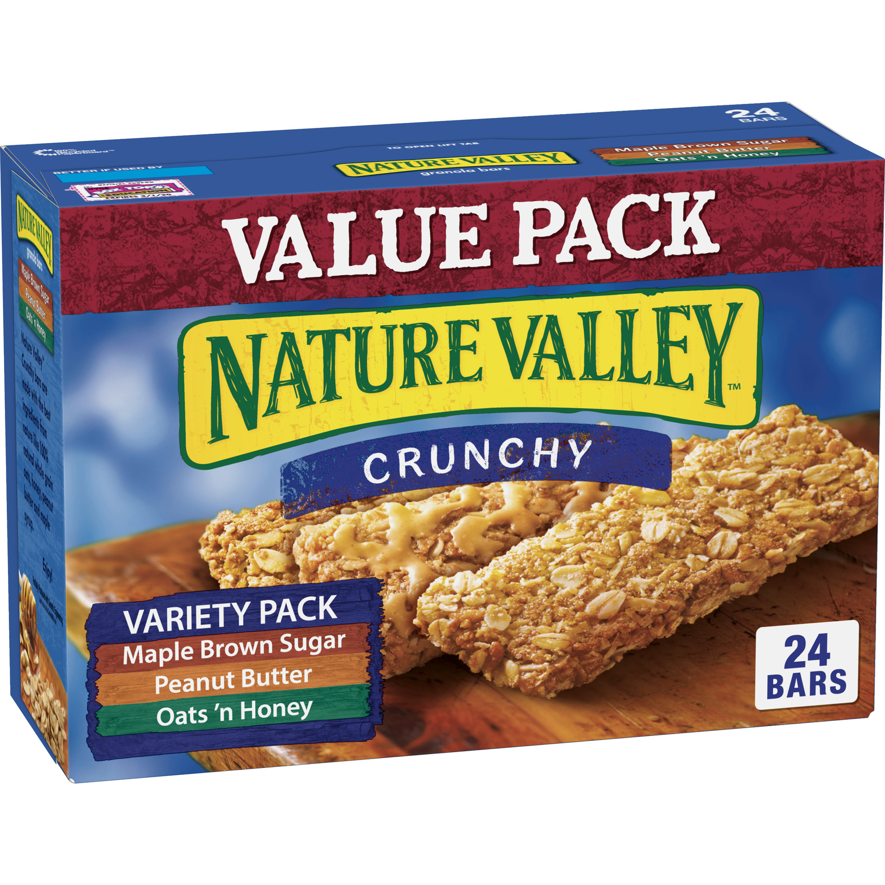 granola valley nature bars crunchy variety pack total grits quaker fashioned bar oz walmart canister ip