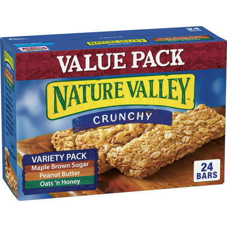 Crunchy Granola Bars Pumpkin Spice Flax - Nature Valley Crunchy Granola Bar Variety Pack of Maple Brown Sugar Peanut Butter and Oats 'n Honey Bars 1.49 oz 12/2-Bar Pouches 24 ct Value Pack Box