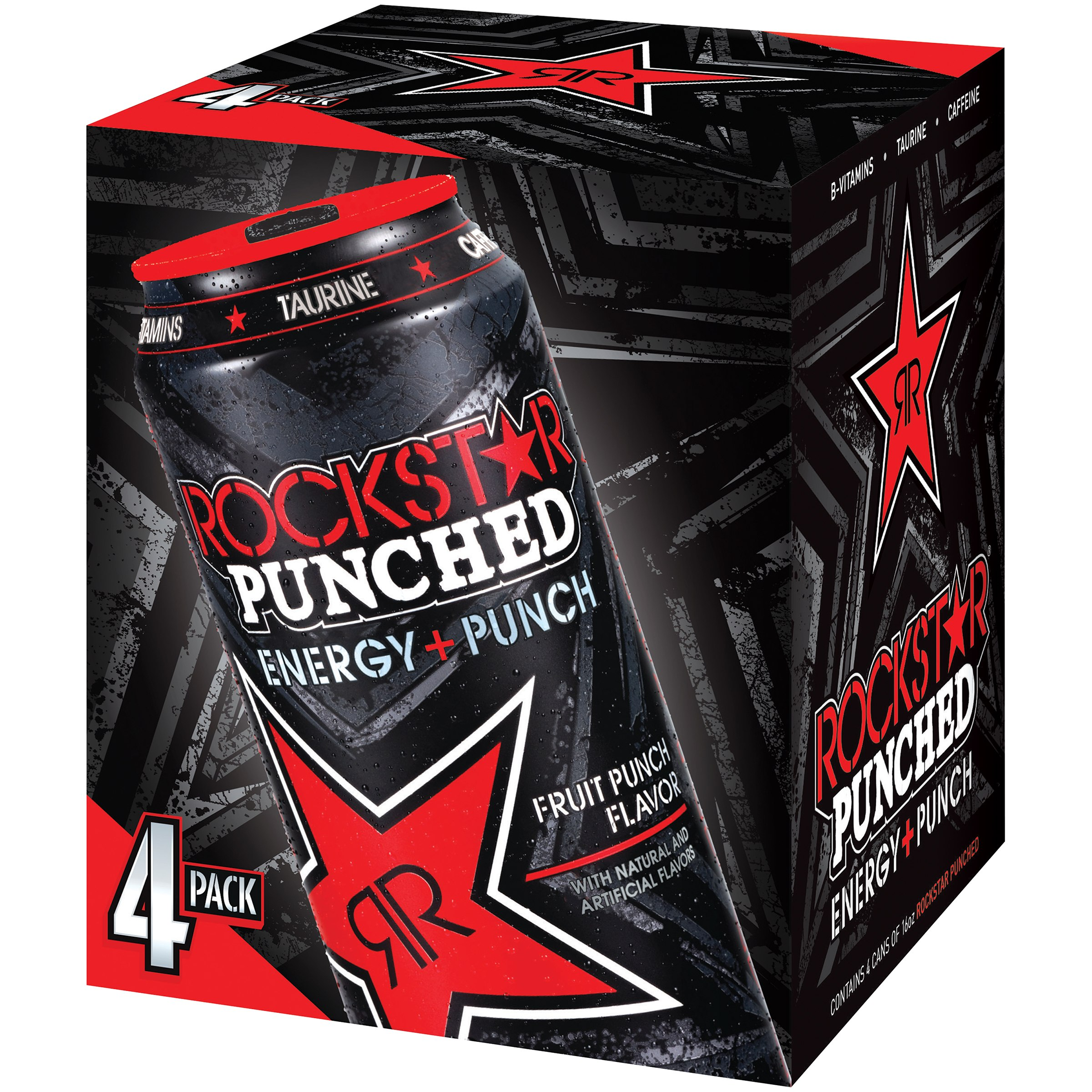 (24 Cans)Rockstar Energy Drink, Punched, 16 Fl Oz