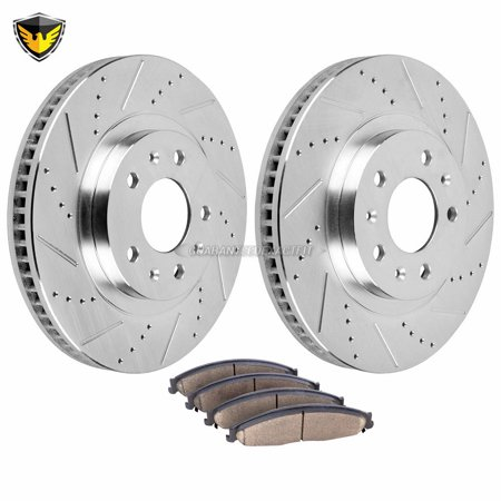 Front Brake Pads And Rotors Kit For Cadillac CTS 2003 2004 2005 2006 2007 2006 Cadillac Cts Base