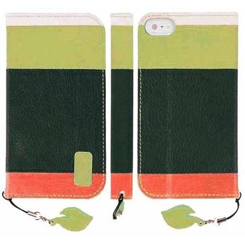 Phone SE Case, [Green] Faux Leather Wallet Case with ID Credit Card Slots, Stand Function for Apple iPhone SE (2016) / 5S (2013) / 5 (2012)