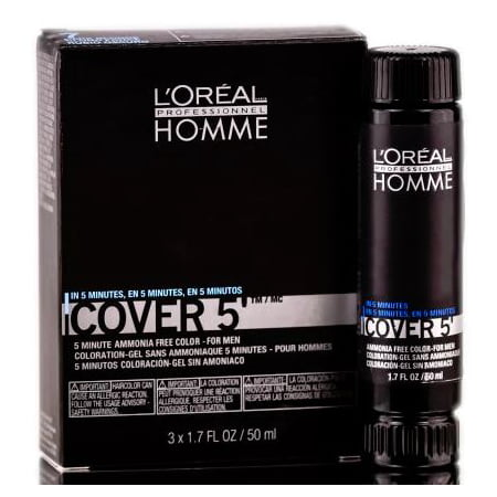 Loreal Homme Cover 5 - Ammonia Free 5-minute Color for Men - Dark Blonde - Mens Blonde Hairstyles